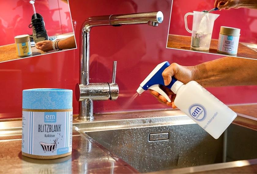 Mit Hausmittel Flecken, Kalk und Gerüche entfernen