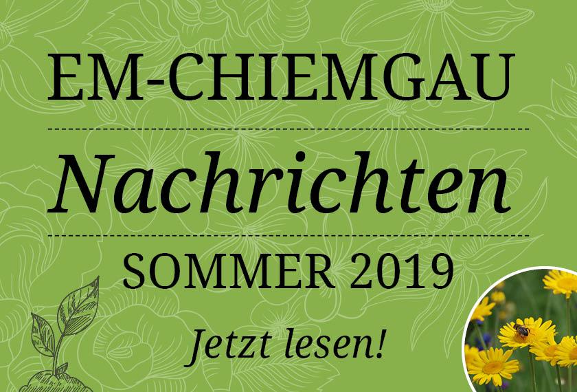 Chiemgau Nachrichten Sommer 2019
