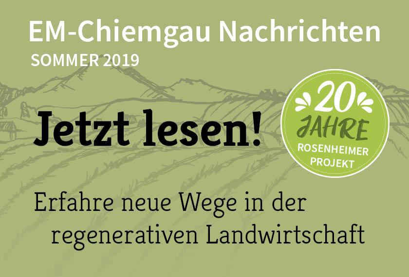 Chiemgau Agrar Nachrichten – Sommer 2019